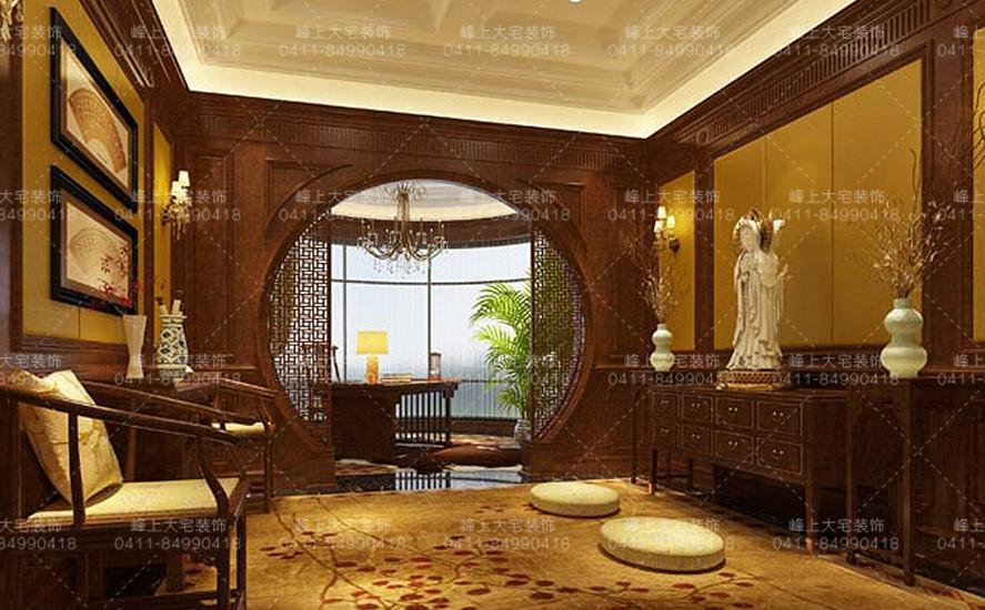 可配合装饰设计进行结构改造,业主是挚诚的佛教徒,配合考虑佛堂的设计
